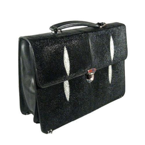 Мужские портфели из кожи ската