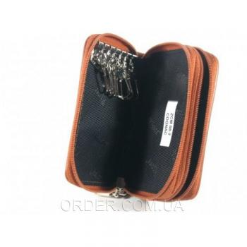 Ключница из кожи крокодила River (ZCM 08-T Cognac)