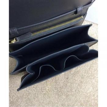 Женская сумка Celine Classic Box Shoulder Bag Black (7307) реплика