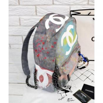 Рюкзак Chanel Graffiti Printed Canvas Backpack (9702) реплика