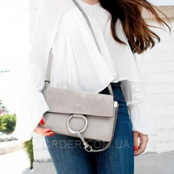 Женская сумка Chloe faye cross-body bag grey (2070) реплика