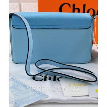 Женская сумка Chloe Faye Cross-Body Bag Blue (2076) реплика