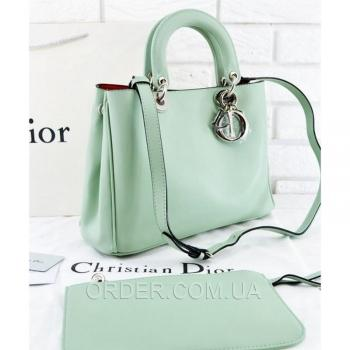 Женская сумка Dior Diorissimo Mint Medium (2325) реплика