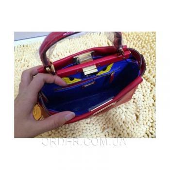 Женская сумка Fendi Peekaboo Medium Red (2640) реплика