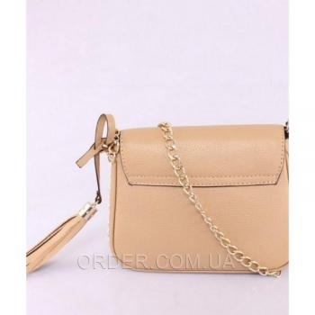 Женская сумка Gucci Soho Chain Shoulder Biege Bag (3355) реплика