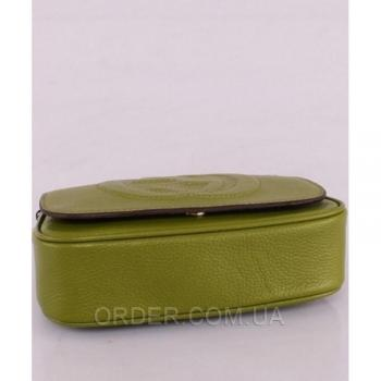 Женская сумка Gucci Soho Chain Shoulder Green Bag (3350) реплика