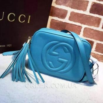 Женская сумка Gucci Soho Disco Blue Bag (3430) реплика