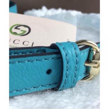 Женская сумка Gucci Soho Disco Blue Bag (3430) реплика