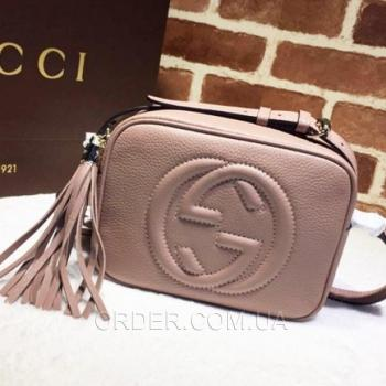 Женская сумка Gucci Soho Disco Pale Pink Bag (3395) реплика