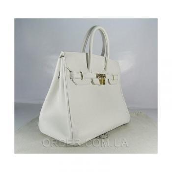 Женская сумка HERMES BIRKIN WHITE 35 CM (3755) реплика