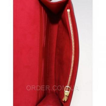 Женская сумка Louis Vuitton MM Chain Red (4070) реплика