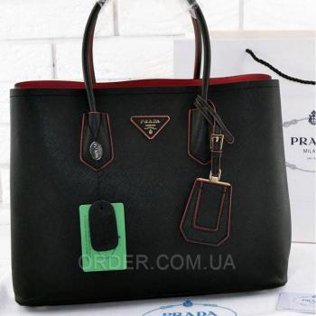 Женская сумка Prada Cuir Double Bag (6931) реплика