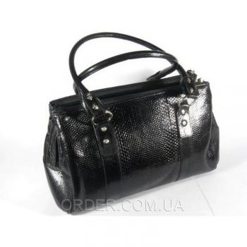 Женская сумка из кожи морской змеи River (BSN 821 black)