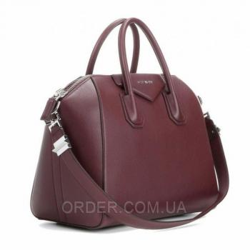 Женская сумка Givenchy Antigona Bag Burgundy (2925) реплика