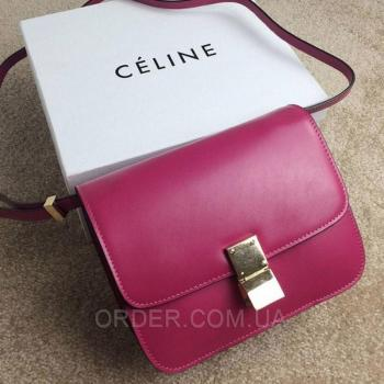Женская сумка Celine Classic Box Shoulder Bag Fuchsia (7330) реплика