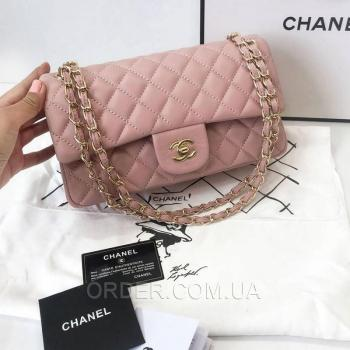 Женская сумка Chanel Classic Flap Bag Pink (9742) реплика