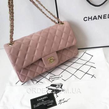 Женская сумка Chanel Classic Flap Bag Pink (9742) реплика
