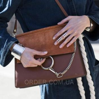 Женская сумка Chloe Faye Large Brown Bag (2080) реплика