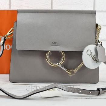 Женская сумка Chloe Faye Large Grey (2078) реплика