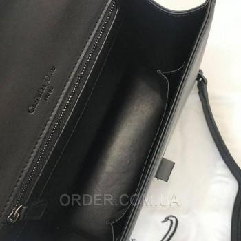 Женская сумка Dior Diorama Studded All Black (2309) реплика