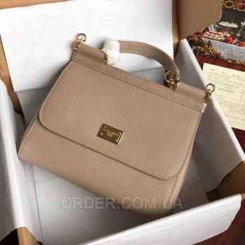 Женская сумка Сумка Dolce & Gabbana Sicily Grey (4934) реплика