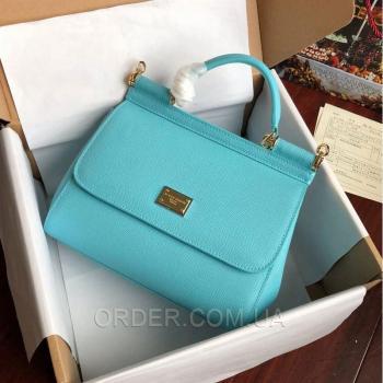 Женская сумка Сумка Dolce & Gabbana Sicily Sky Blue (4933) реплика