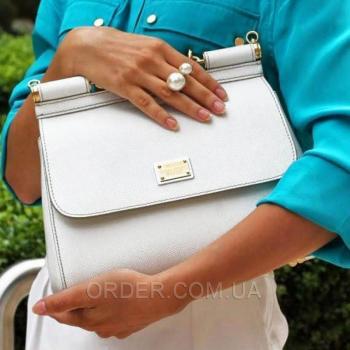Женская сумка Сумка Dolce & Gabbana Sicily White (4932) реплика