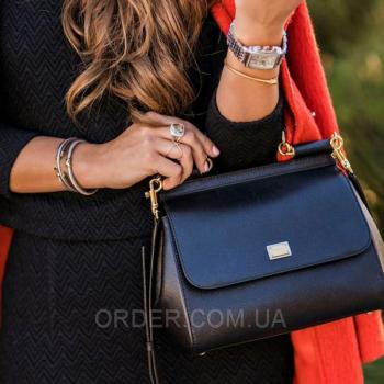Женская сумка Сумка Dolce & Gabbana Sicily Black (4931) реплика