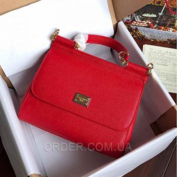 Женская сумка Сумка Dolce & Gabbana Sicily Red (4930) реплика