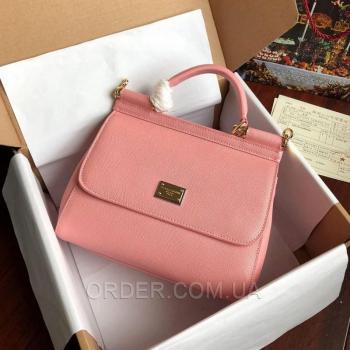 Женская сумка Сумка Dolce & Gabbana Sicily Pink (4924) реплика