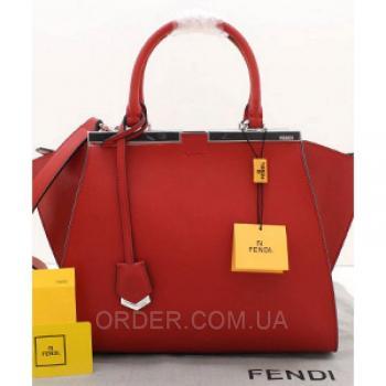 Женская сумка Fendi Petite 3 Jours Maroon (2639) реплика
