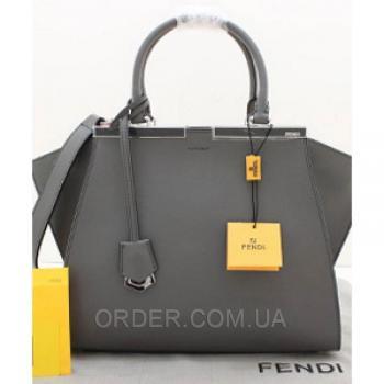 Женская сумка Fendi Petite 3 Jours Grey (2638) реплика