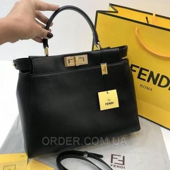 Женская сумка Fendi Peekaboo Iconic Black (2666) реплика
