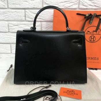 Женская сумка Hermes Kelly Black 32 cm (3792) реплика