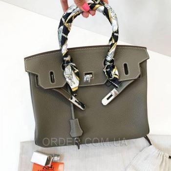 Женская сумка Hermes Birkin Grey 30 cm (3781) реплика