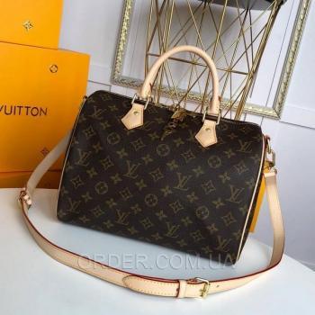 Женская сумка Louis Vuitton Speedy Monogram Canvas (4053) реплика