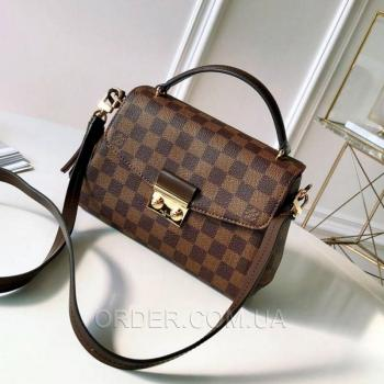 Женская сумка Louis Vuitton Croisette Damier Ebene Canvas Bag (4050) реплика