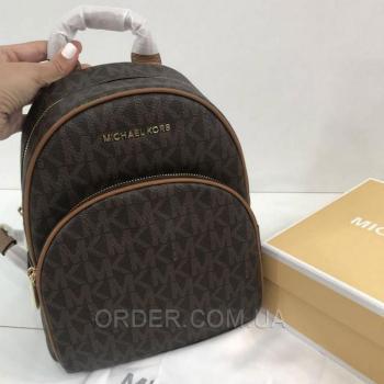 Женский рюкзак Michael Kors Abbey Acorn Brown Backpack (5759) реплика