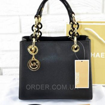 Женская сумка Michael Kors Cynthia Small Black (5728) реплика