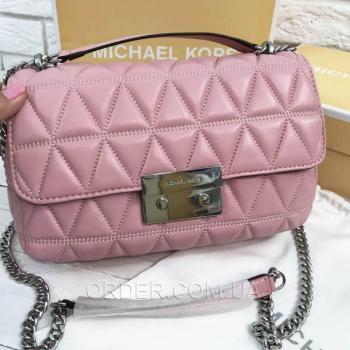 Женская сумка Michael Kors Sloan Pink (5719) реплика