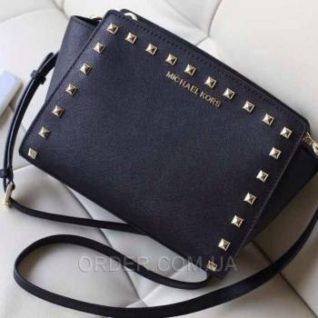 Женская сумка Michael Kors Medium Selma Studded Messenger (5160) реплика