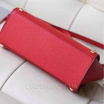 Женская сумка Michael Kors Medium Selma Studded Messenger Red (5157) реплика