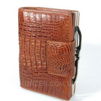 Женский кошелек из кожи крокодила River (PCM 254-H Cognac)