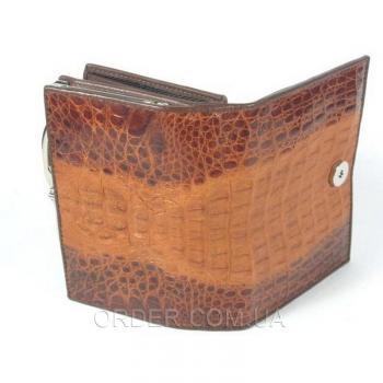 Женский кошелек из кожи крокодила River (PCM 254-H Golden Brown)