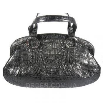 Женская сумка из кожи крокодила River (BCM 490 black)