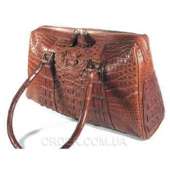 Женская сумка из кожи крокодила River (BMT 706 Cognac)