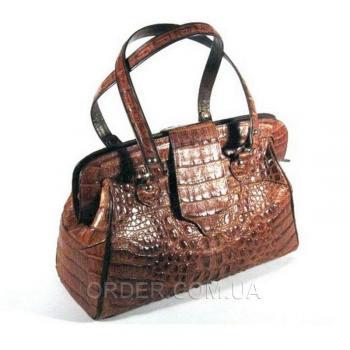 Женская сумка из кожи крокодила River (TCM 75 Cognac)