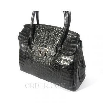 Женская сумка из кожи крокодила River (BCM 185 black)