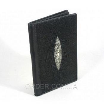 Обложка для паспорта и автодокументов из кожи ската River (NTR 20 Black)