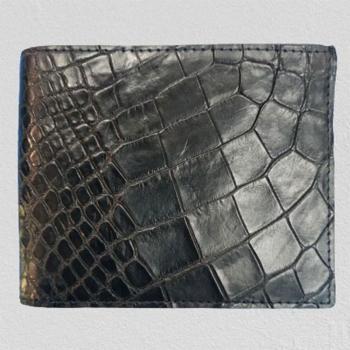 Мужской кошелек из кожи крокодила RIVER (WW 061 Black)